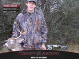 Brendan Lederach with 1st deer.