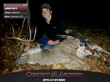 Jacob Clark with a Big Missouri Buck and his Concept C32.
